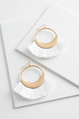 fringe hoop earrings