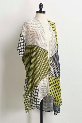 dotted geo kimono