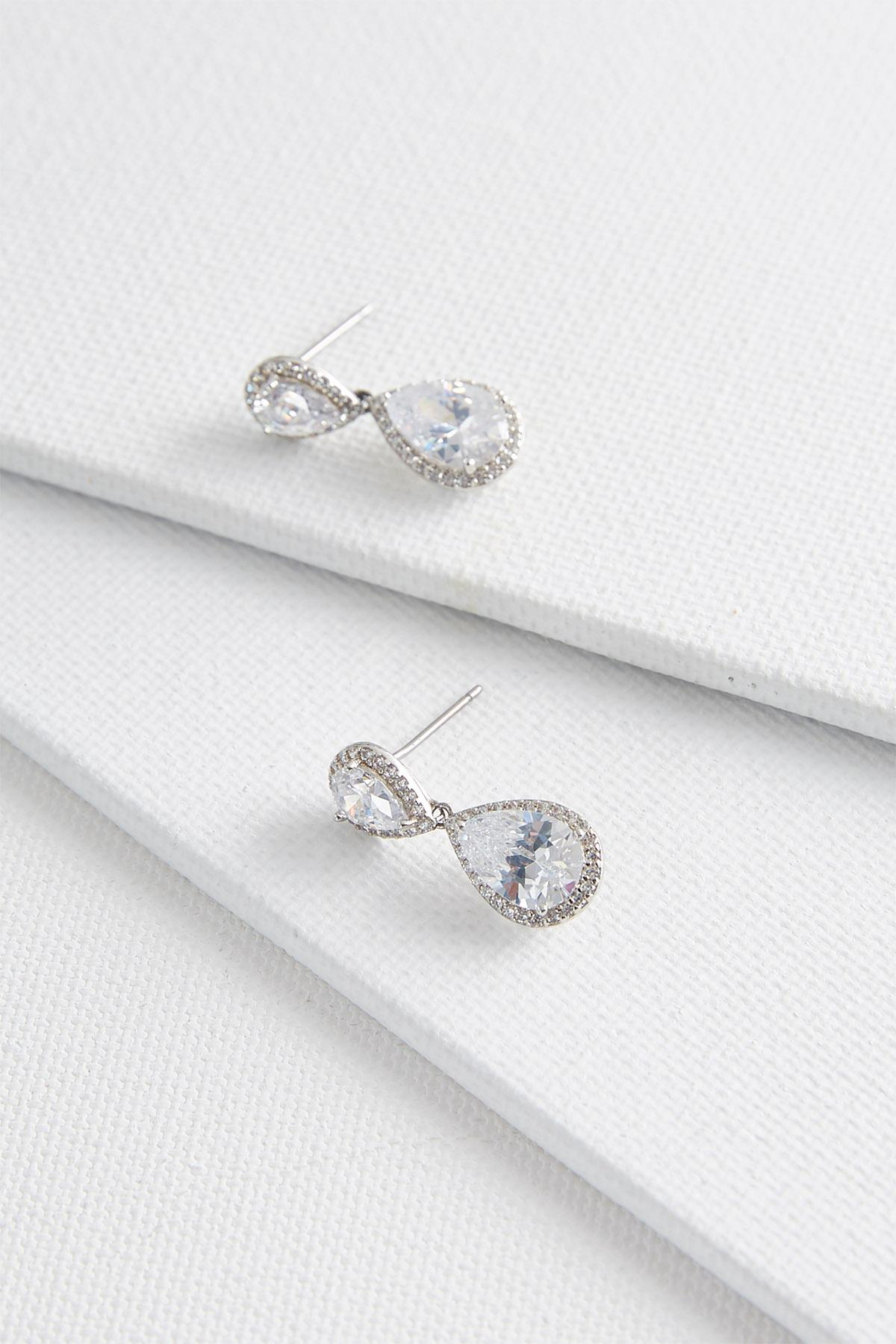 Haloed Rhinestone Dangle Earrings