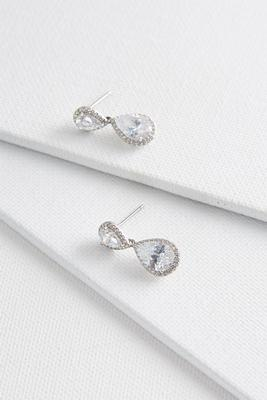 haloed rhinestone dangle earrings