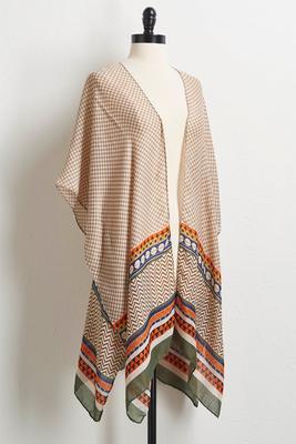 tan tribal kimono
