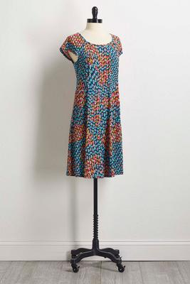 teal peacock shift dress