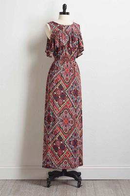 diamond paisley maxi dress