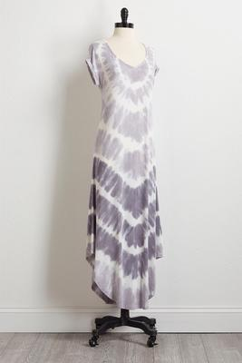 gray tie dye maxi dress