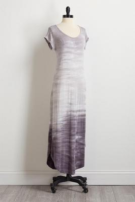 gray dip dye maxi dress