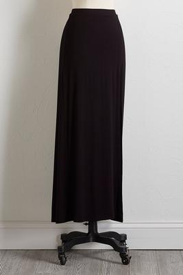 soft solid maxi skirt