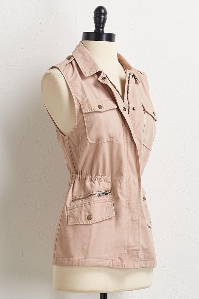 Cinch Waist Utility Vest