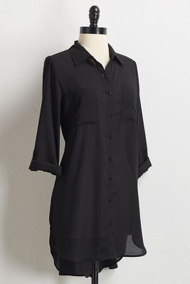 solid button down tunic