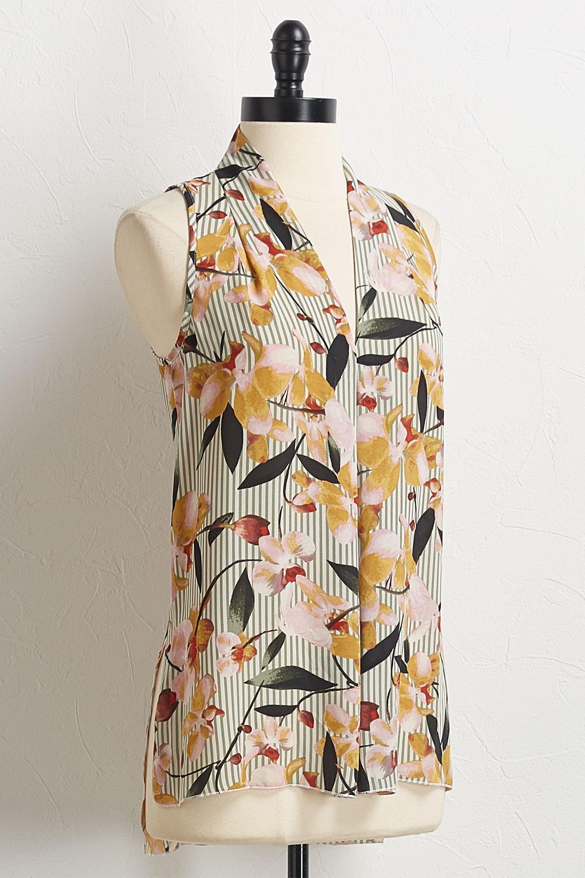 Stripe Floral Top