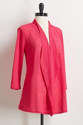 pink drape cardigan