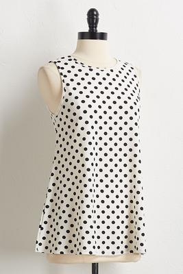 textured polka dot swing tank