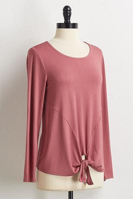 autumn knotted front top