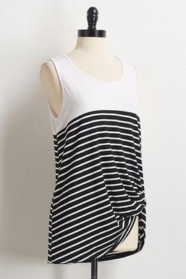 stripe side knot tank