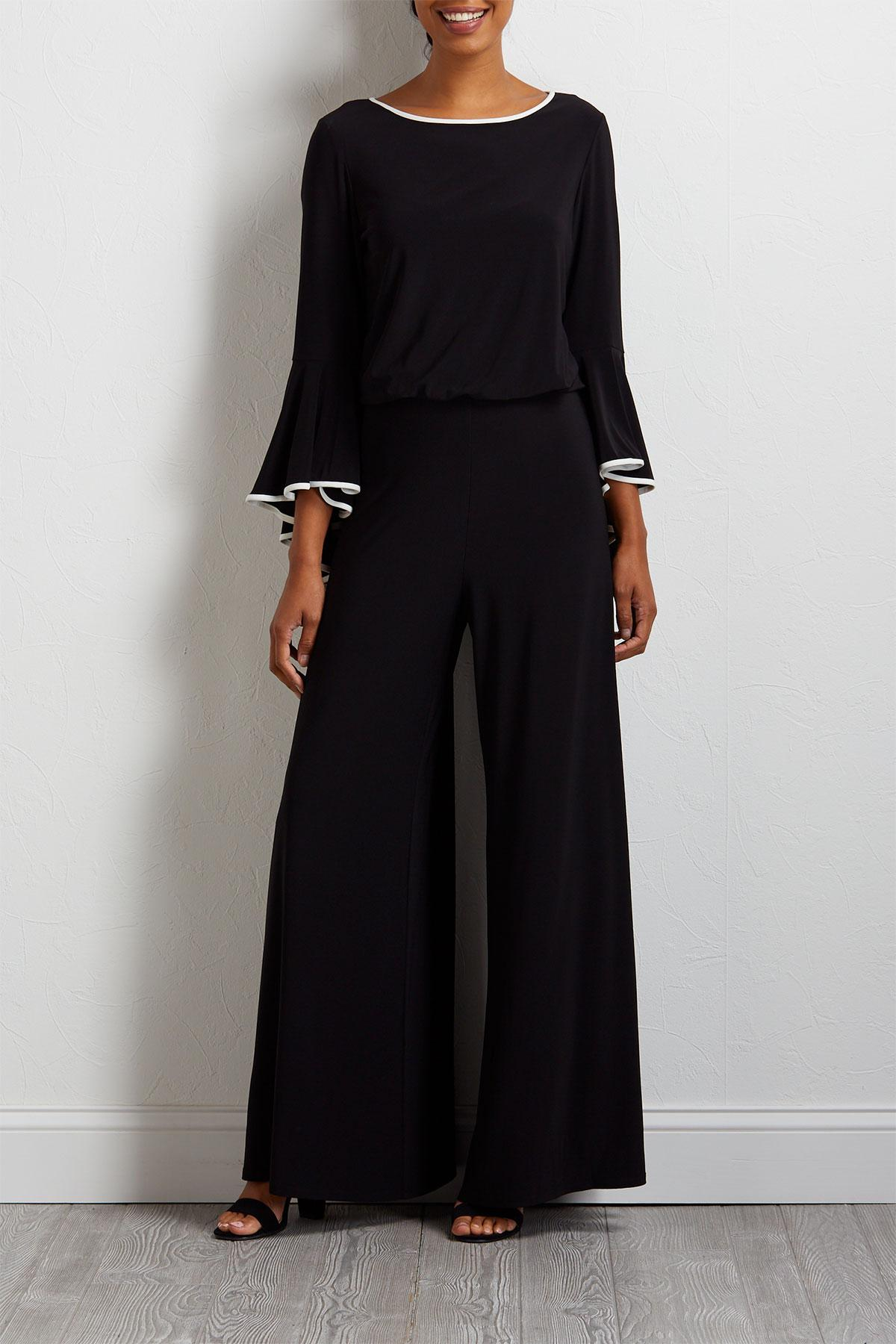 Versona Two Toned Dressy Jumpsuit