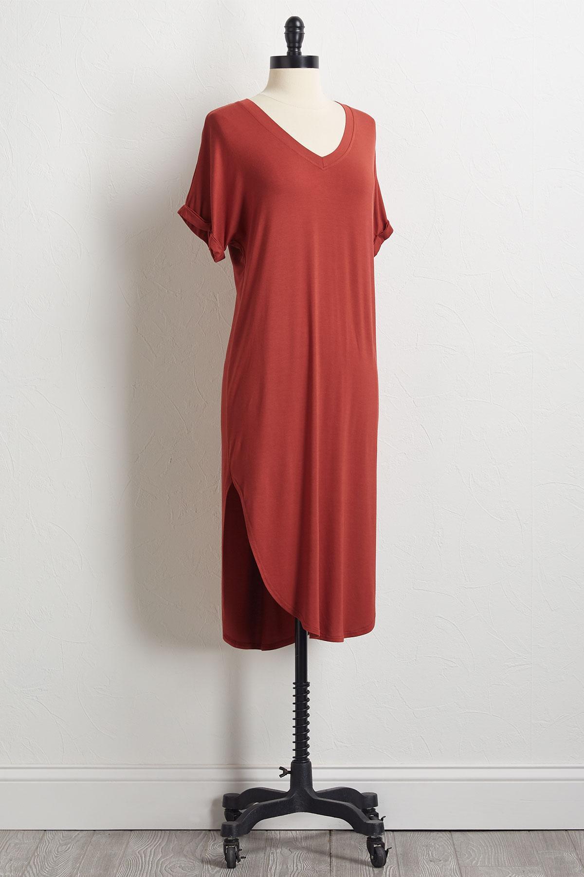 Round Hem Shirt Dress