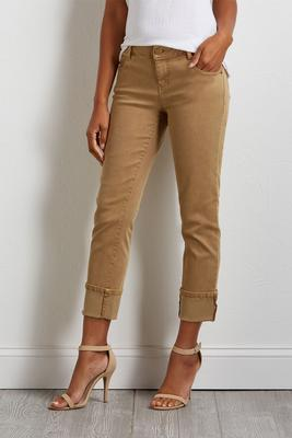 cropped girlfriend woven pants