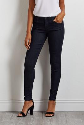 dark wash woven jeggings