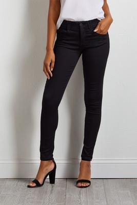 black woven jeggings s