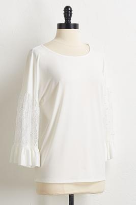 lacy pearl sleeve top