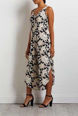 textured floral genie jumpsuit