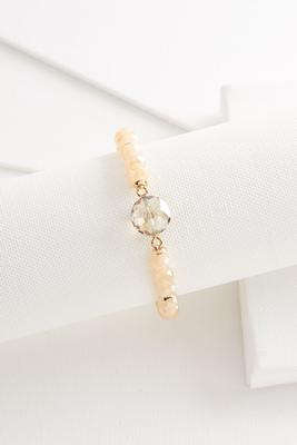 faceted circle stretch bracelet