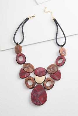 geo tortoise bib necklace