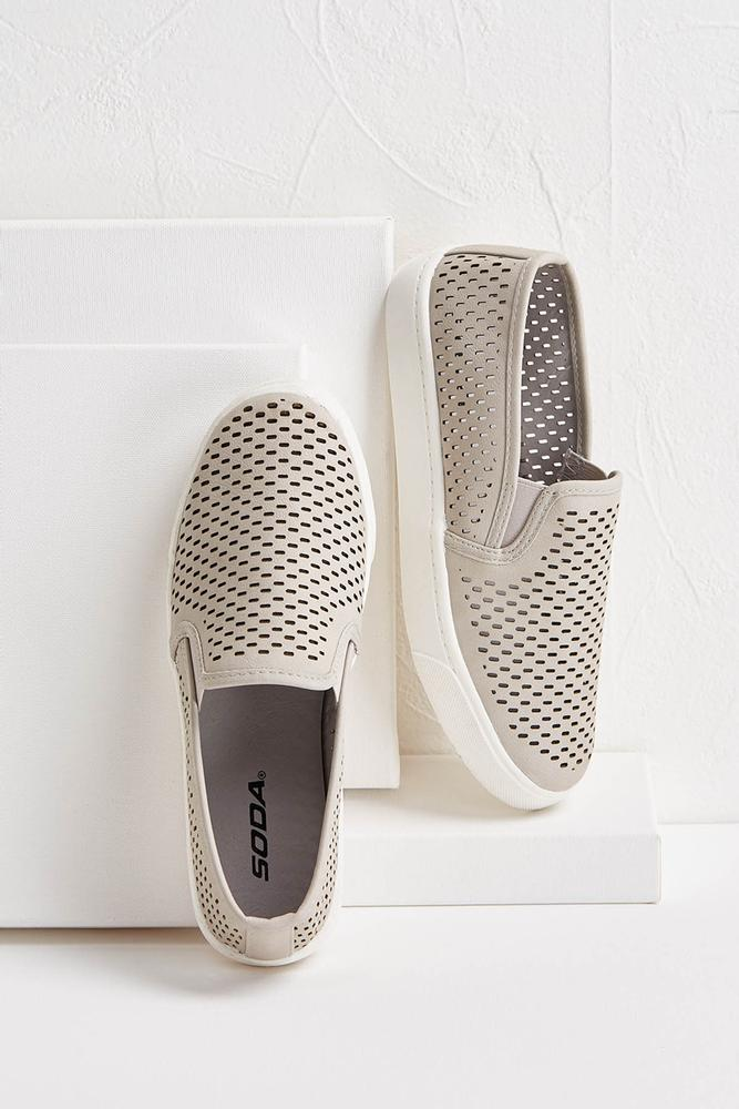 Perforated Slip- On Sneakers