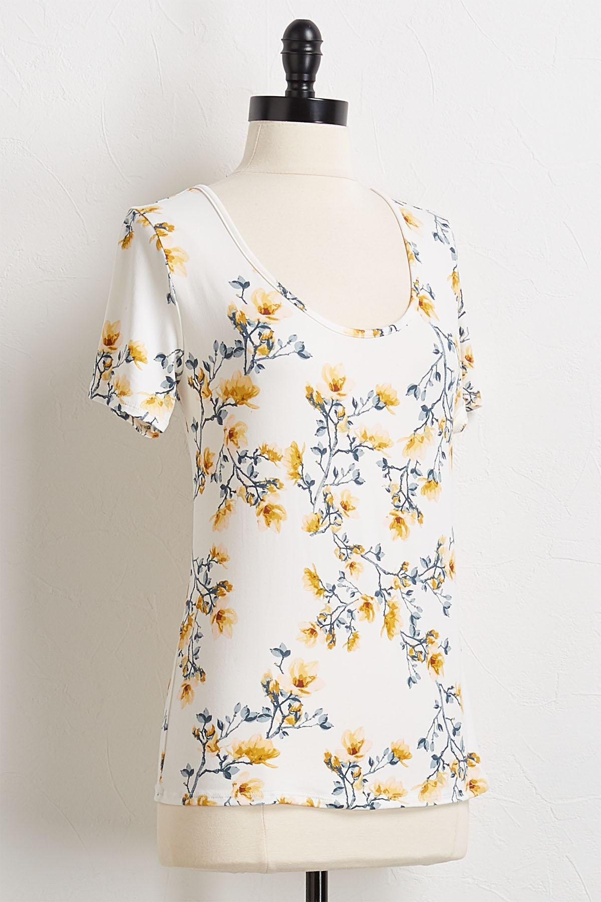 Floral Lattice Back Top