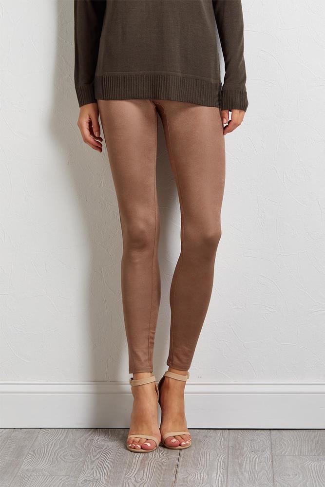 Black Coated Leggings