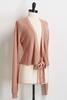 Rose Tie Front Cardigan Sweater
