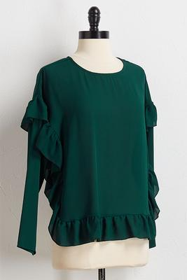 ruffled trim top