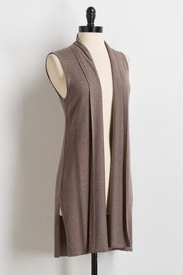 solid cashmere blend vest