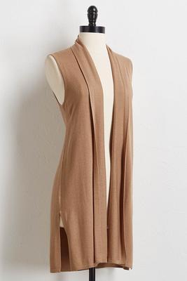 tan cashmere blend vest
