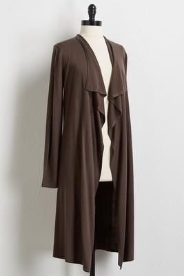 cashmere blend duster cardigan