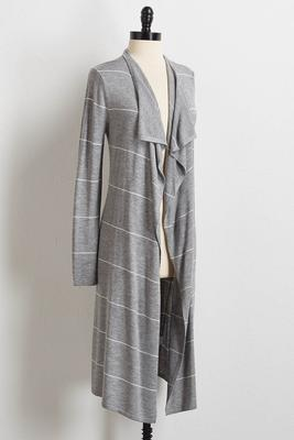 cashmere blend striped cardigan