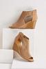 Perforated Peep Toe Wedges