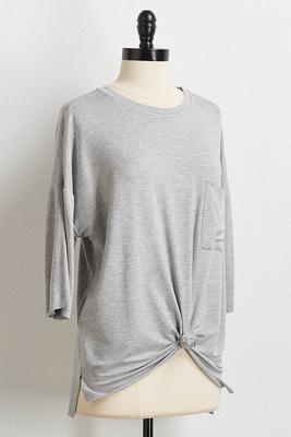 pocket front knot tee