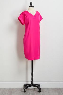satin shift dress