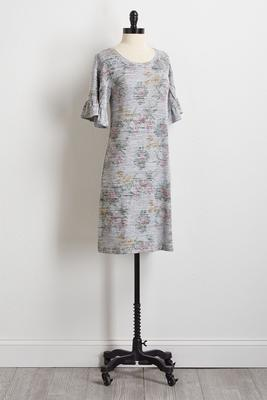 floral hacci shift dress