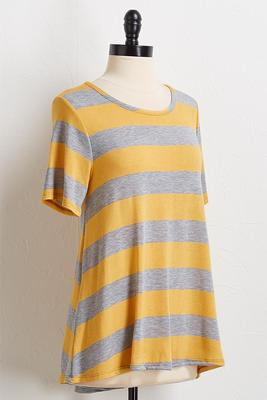 golden gray stripe swing top