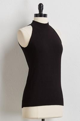 halter ribbed sweater