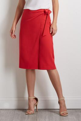 side wrap midi shorts