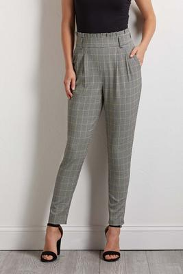 golden houndstooth pants