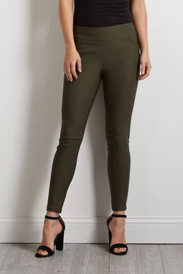 solid olive bengaline pants