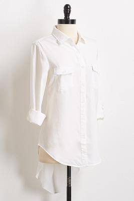 button down high-low shirt