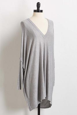 tunic poncho sweater