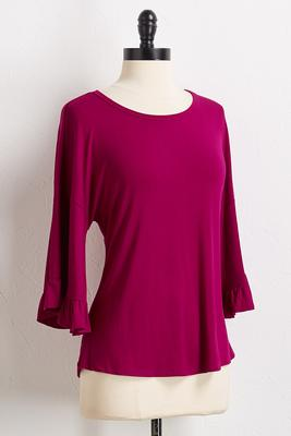 ruffle flare sleeve top