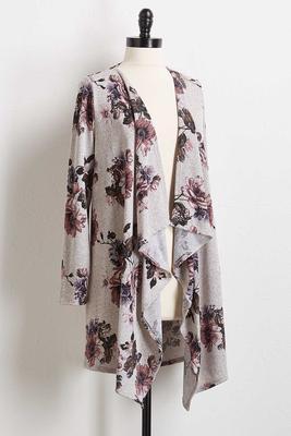 lavender gray hacci cardigan