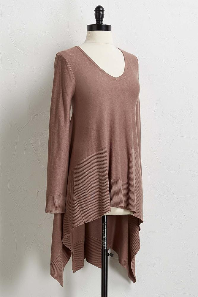 Hanky Hem Tunic Sweater