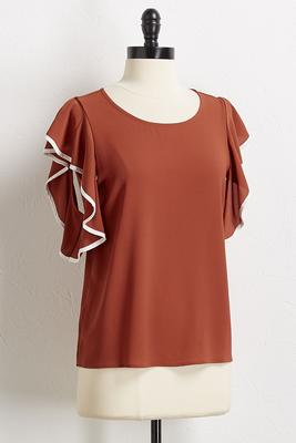 crepe bare shoulder top